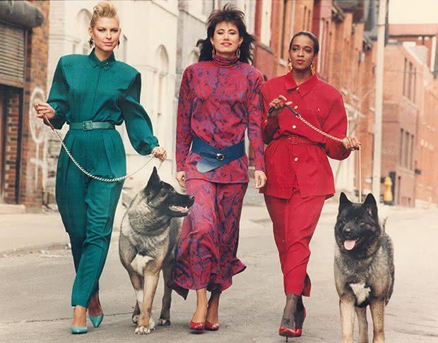 Modelos de Vestidos dos Anos 80