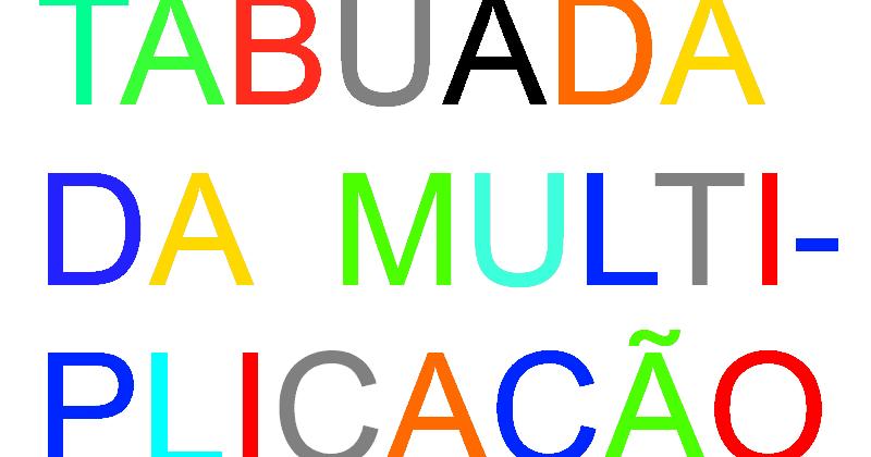 Tabuada Cantada