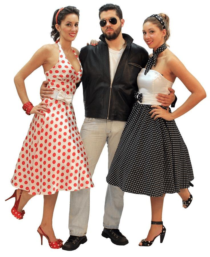 roupas anos 60 feminina e masculina