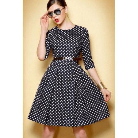vestido de bolinhas anos 60