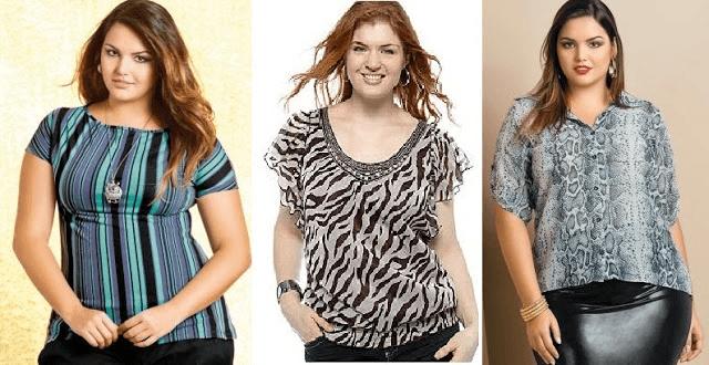 blusas para gordinhas