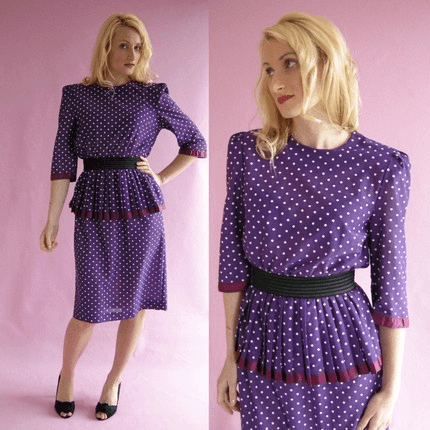 Vestidos dos Anos 80