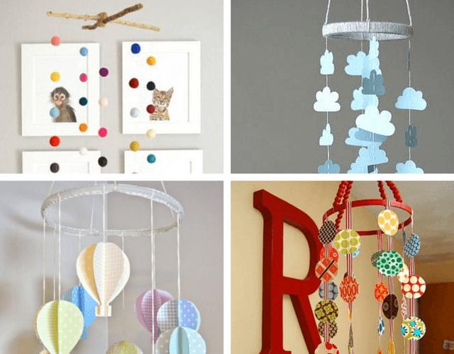 decoração para quarto de bebe com artesanato