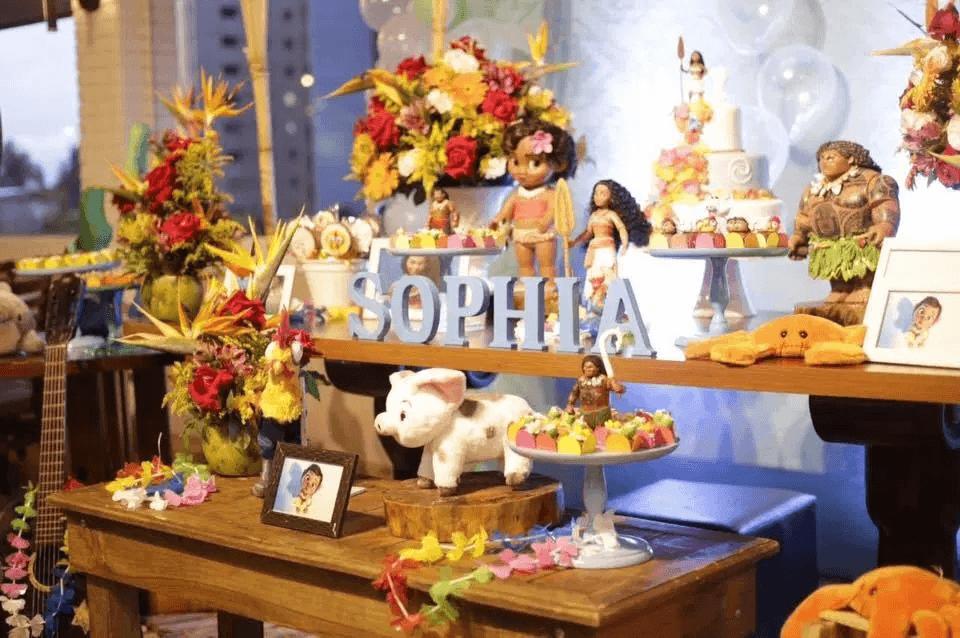 Festa Infantil Decoração moana