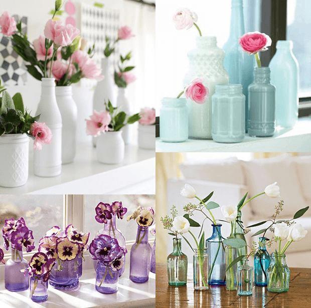 vidros para decoração da casa