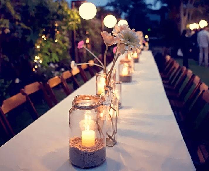 Vidros para decoração em festas