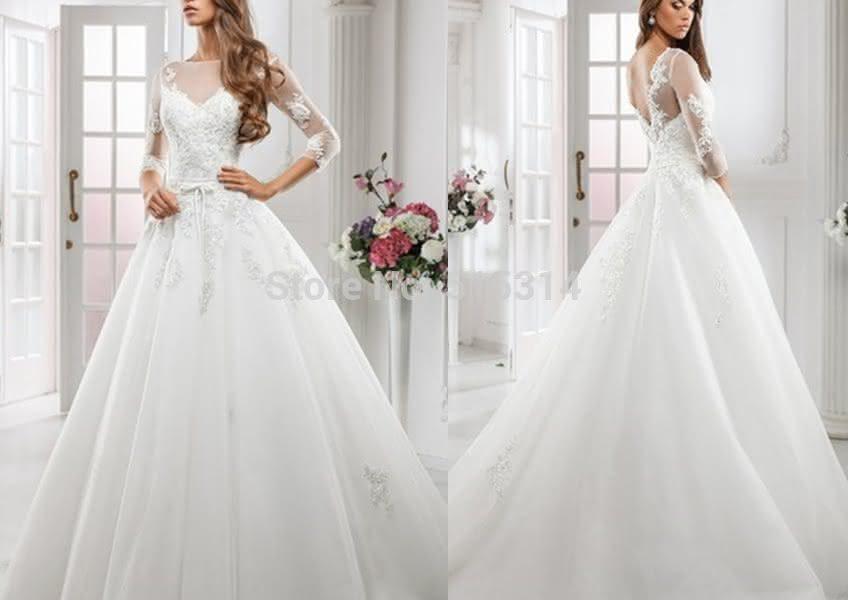 Vestido de Noiva Tule Princesa