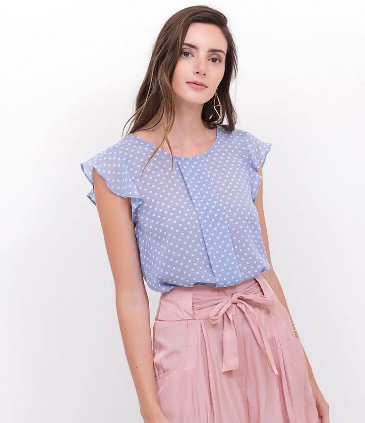 2eadf16a8 Modelos de Blusa Feminina   Tecido Fino   Viscose   Lisas & Estampadas