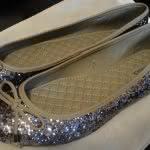 Sapatilha com Glitter Prata