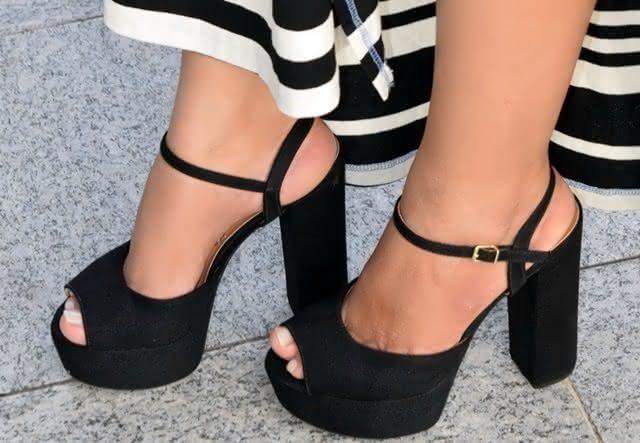 Sapato Meia Pata Salto Grosso
