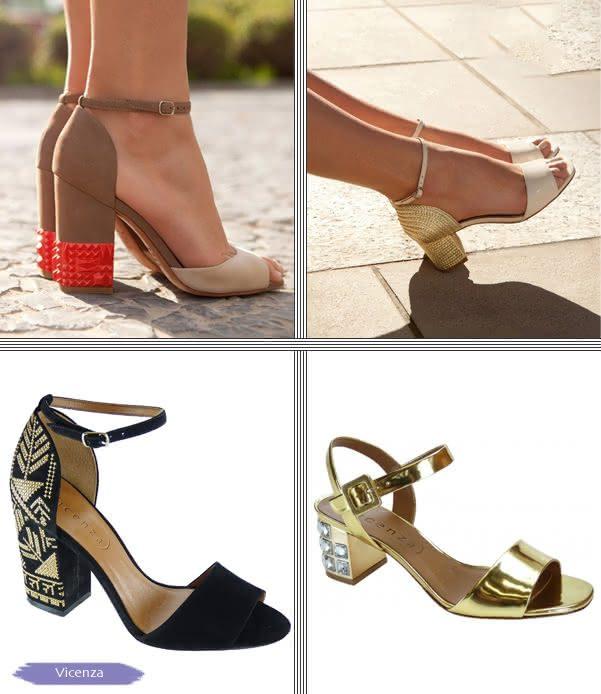 44c73ce1de Sapatos com Salto Quadrado