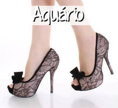 Sapatos para cada Signo Aquario
