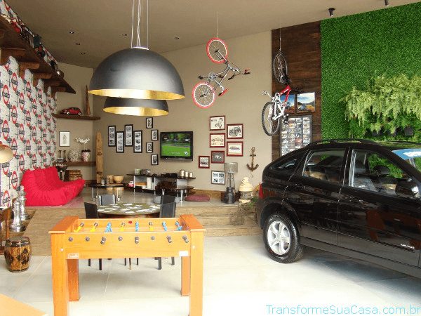 garagem decorada
