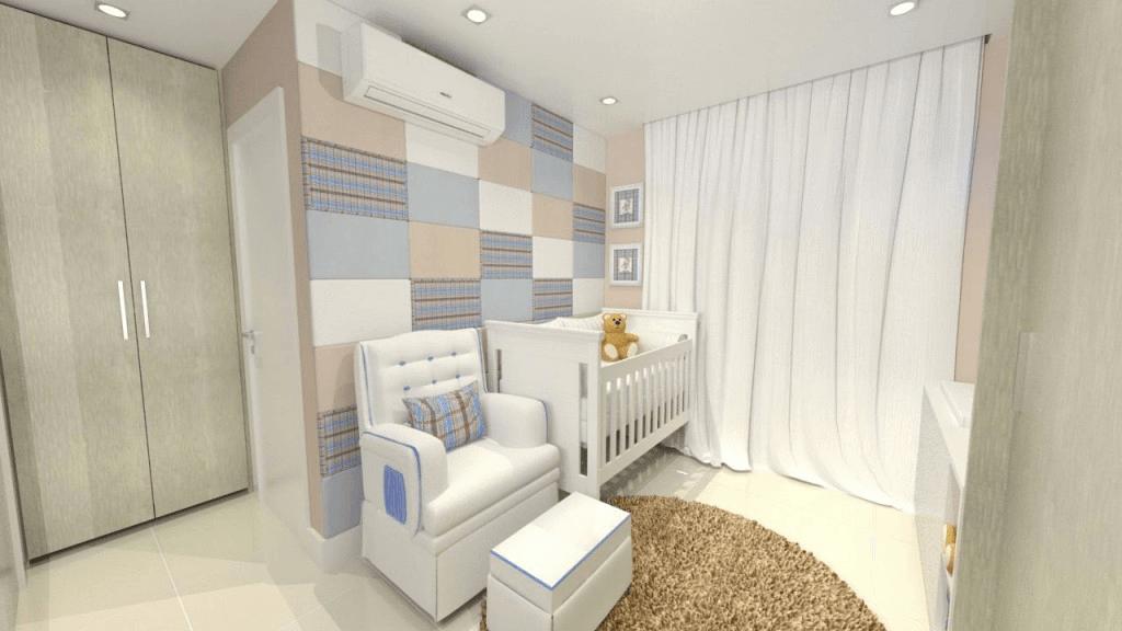 decoração com tecido de parede