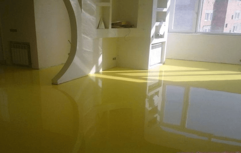 piso epóxi