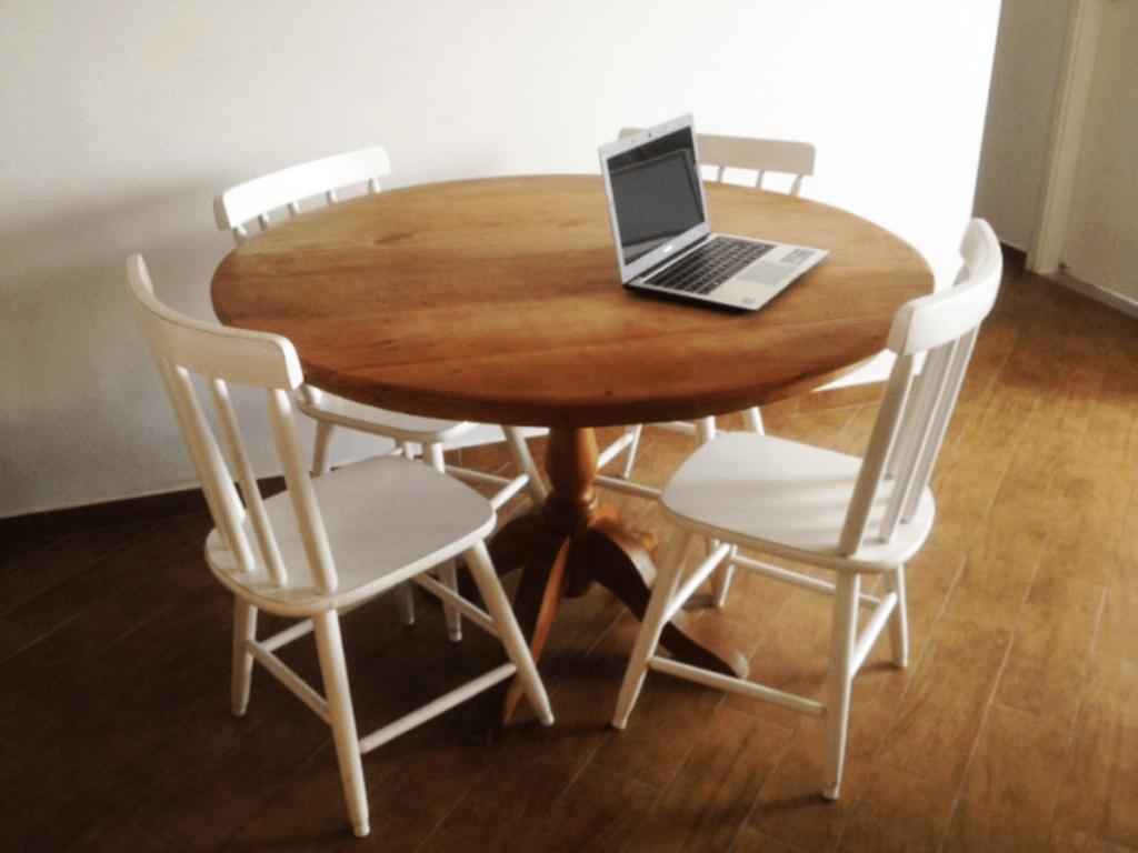Mesa com 4 Cadeiras fotos